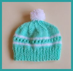 Love this cute little baby hat ~    perfect gift for a baby shower - or for charity donation.     Amanda Baby Hat - with pom pom         ...