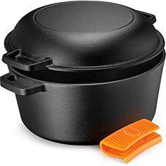 Caserola Lodge con cubiera de sartén y doble función como horno, 4.7 litros: Amazon.com.mx: Hogar y Cocina