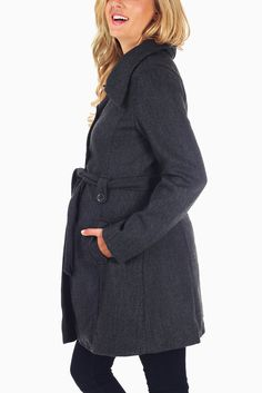 Navy Blue Maternity Coat