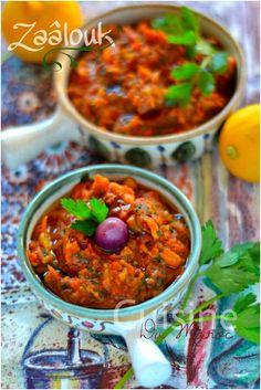 Zaalouk dip d'aubergine à la marocaine | Cuisine Du Maroc et D'ailleurs