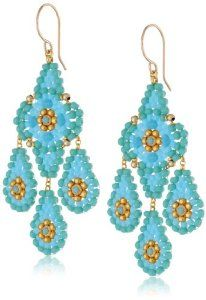 Miguel Ases Turquoise Classic Chandelier Drop Earrings