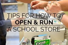 With a few simple steps you can help your students utilize classroom concepts in a real world setting and raise money for your school. School Supply Store, School Store, Morning Announcements, Classroom Economy, Spirit Store, Student Leadership, Student Council, Class Management, Too Cool For School