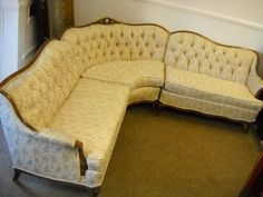 Vintage Hollwood Regency/French Provicial Sofa Sectional 40s-50s Excellent. : french provincial sectional sofa - Sectionals, Sofas & Couches