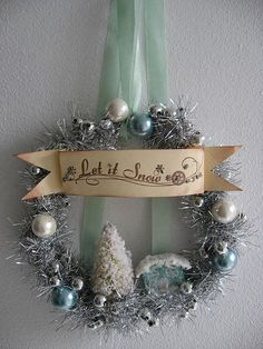 Reuse & Recycle Vintage Christmas Garlands