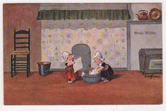 MA-1510041210-Kuenstlerkarte-Grosse-Waesche-Kinder-in-Tracht