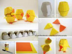 Cartones de huevo..
