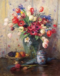 Spring Flowers and Ginger Jar by Fernand Toussaint