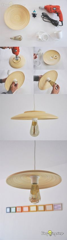 Lámpara DIY con Ikea Hack - Easy DIY Ikea Hack Pendant Light