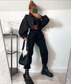 Urban Style Outfits, Edgy Outfits, Teen Fashion Outfits, Mode Outfits, Retro Outfits, Cute Casual Outfits, Casual School Outfits, Mein Style, Mode Streetwear