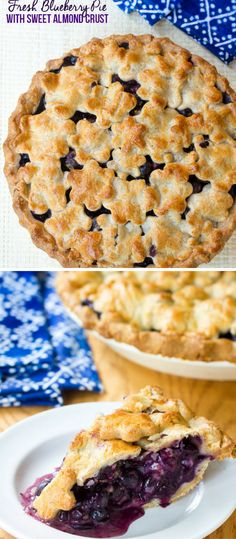 Fresh Blueberry Pie with Almond Pie Crust