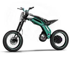 ktm trik's bike, alexandre labruyere, futuristic bike, electric vehicle