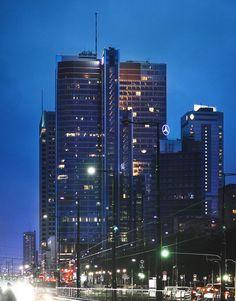 Warsaw by night by Luke Kazmierczak on 500px