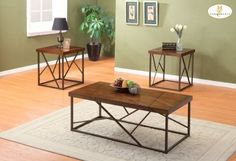 """3-Piece Occasional Tables Cocktail Table (End Table - of Vincent Collection) by Homelegance by Homelegance. $293.33. """"Made from the finest solid teak, which is strong and durable"""". """"With a brown cherry finish and patterned to mimic the asymmetrical lined accent of the tables legs, this occasional offering is the perfect addition to your contemporary or transitional home."""". """"It is elegant, comfort and stylist"""". Franks Collection Scored Wood Table Tops Perch On The Framed ..."""