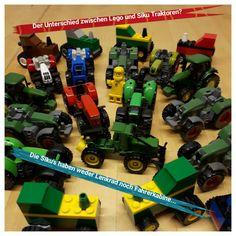 Siku vs. Lego. Lego verliert keine Lenkräder und Fahrerkabinen - ein klarer Sieg :-)