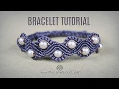 DIY Macramé Wave Bracelet with Beads | Tutorial - YouTube