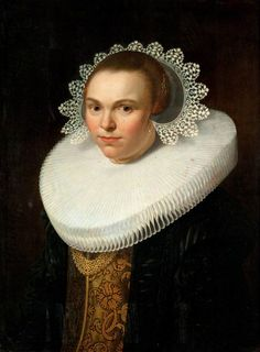 Portrait of a Young Woman,c.1625-35 by attributed to Nicolaes Eliasz.Pickenoy