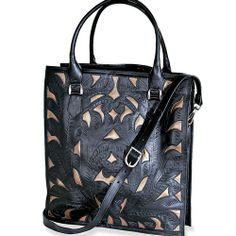 Tough & Tender Metallic Leather Tote Bag in  from Uno Alla Volta