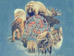 · Visualize seu animal guardião num local focalizado por uma luz dourada. · Não se distraia com nada, não pense em nada que não seja o seu animal, que está dentro de você. · Começando pelo Sul, peça ao seu animal para pedir auxílio aos espíritos guardiões e elementos das 4 Direções. · Vá a SUL, Oeste, Norte, Leste e Sul. · Peça ao animal ir ao Espírito acima e à Mãe-Terra, abaixo. · Peça para seu animal se mover para a sua mão direita. · Respire profundamente por 4 vezes, a cada vez que…