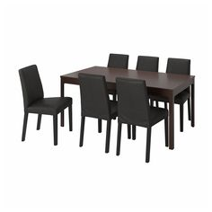 Ekedalen Bergmund (IKEA Dining Sets up to 6 Seats) ( Furniture > Dining Furniture > Dining Table Chair > Dining Sets ) #09408311 Ikea Dining Sets, Dining Room Table Chairs, Furniture Dining Table, Table And Chair Sets, Table Legs, Henriksdal Chair Cover, Under The Table, Wood Veneer, That Way