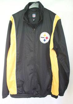915d05f92 NFL Pittsburgh Steelers American Football Jacket Track Zip Top sz Large  NFL   PittsburghSteelers
