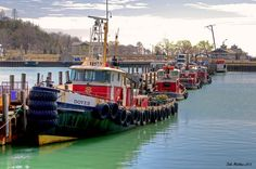 Tugs at the Goderich Harbour, Goderich, Ontario #Goderich #RediscoverGoderich