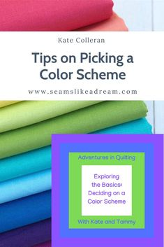 Exploring the Basics- Deciding on a Color Scheme Split Complementary Color Scheme, Complimentary Colors, Color Mixing, Color Pop, Color Harmony, Color Theory, Warm Colors, Quilt Making, Quilting Designs