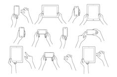Hands & Devices Illustration Bundle by PitchStock on Creative Market