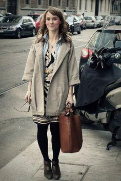 Lucy Laucht in Supersocial Jacket, Vintage Boots, Zara Bag, Sussan Dress, H Shirt, and Vintage Belt