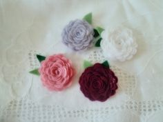 Flores de feltro  - Pequenos mimos. Felt Flowers