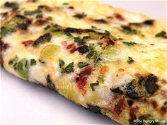 Meatless Monday Breakfasts: Spanish Egg White Omelet  2 servings 30 Calories/serving
