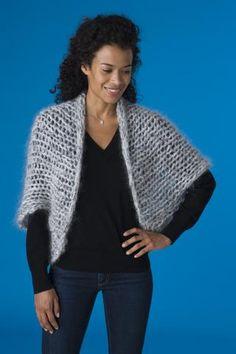 Knitted Cape Pattern, Shrug Knitting Pattern, Knitting Paterns, Knit Shrug, Afghan Crochet Patterns, Knitted Shawls, Knit Patterns, Knitting Projects, Spool Knitting