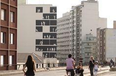 """Arte e Arquitetura: """"Empena Viva"""" por Nitsche Projetos Visuais"""