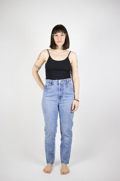 Perfectly Distressed Vintage Bongo Jeans | 90s High Waist Skinny Denim | Bodacious Mom Jeans | Size 28