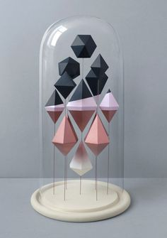 Sculpted geometric shapes created by Mark of Present & Correct