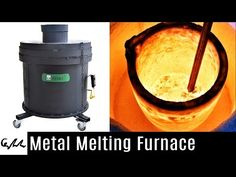 How to recycle scrap metal in the backyard, with a homemade, Mini Metal Foundry. Common materials in the Mini Metal Foundry [✓] Clay Graphite Crucible: http:. Gas Forge, Blacksmith Forge, Homemade Tools, Diy Tools, Forging Tools, Welding Shop, Melting Metal, Steel Fabrication, Metal Casting