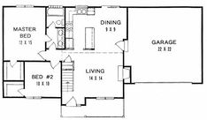 Plan # 908 - Ranch | First floor plan
