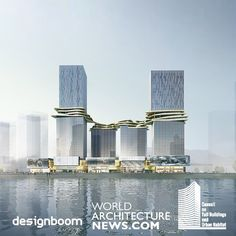 Thank you designboom, World Architecture News and CTBUH for reporting our Hengqin CRCC Plaza in Zhuhai, China. Concept Architecture, Futuristic Architecture, Residential Architecture, Amazing Architecture, Architecture Design, Mix Use Building, High Rise Building, Building Ideas, Building Facade