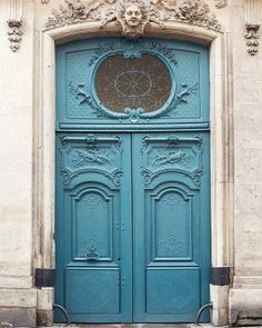 Blue Door Paris Photography Turquoise by EyePoetryPhotography, $30.00