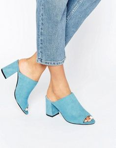 Buy ASOS TRUE LOVE Heeled Mules at ASOS. Get the latest trends with ASOS now. Cute Sandals, Shoes Sandals, Heels, Wedge Boots, Shoe Boots, Flip Flop Boots, Heeled Mules, Heeled Boots, Shoe Gallery