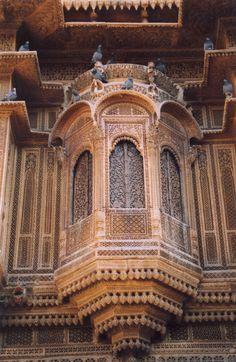 A balcony. Jaisalmer Fort, Rajasthan, India