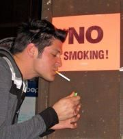 Arrogant Smokers... hate them!