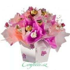 Gift for wedding anniversary - arrangements with candy