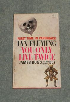 YOU ONLY LIVE TWICE, JAMES BOND, IAN FLEMING, 1965 SIGNET 1st Print Book, GUC!