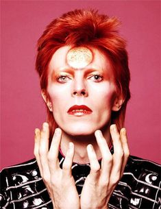 David Bowie Ziggy Stardust sun makeup is one of Dezeen's top David Bowie design moments