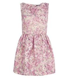 Miss Real Pink Floral Sparkly Bow Dress