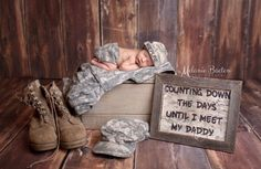 """When the family of this little boy came to me and wanted to honor his military father, I was eager to do whatever I could for them. His daddy was overseas serving our country at the time of his son's birth. Although the session was emotional for the family, it was the best way to turn difficult circumstances into a beautiful image."" —Melanie B."