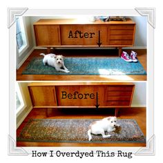 Overdyed Rug – Rit Dye Fabric Rug, How To Dye Fabric, Fabric Painting, Diy Painting, Inexpensive Rugs, Using A Paint Sprayer, Paint Run, Rit Dye, Natural Fiber Rugs