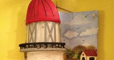 blog de manualidades la andaluza tejas calbazas muñecos goma espuma Miniature Houses, Ladder Decor, Miniatures, Home Decor, Yule, Clay Houses, Roof Tiles, Jelly Beans, Windows