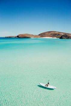 Kayaking at Balandra Beach, Cabo San Lucas in Mexico @nathanpatd