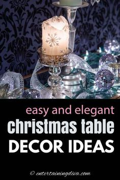 I love these creative Christmas table decorations! So easy to do but still look elegant. I can't wait for Christmas dinner! #entertainingdiva #christmas #tablescape #christmas #tabledecor #holidaysandevents